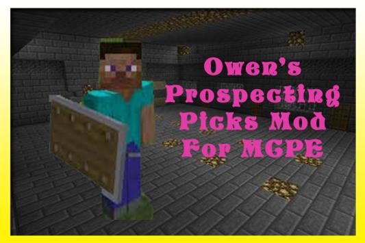 OwenProspecting Picks Mod MCPE apk screenshot