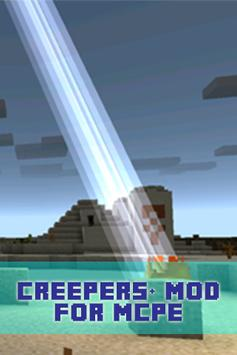 Creepers+ Mod For MCPE poster
