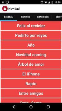 Navidad: Mensajes con iconos apk screenshot