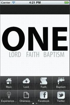 One Faith App poster