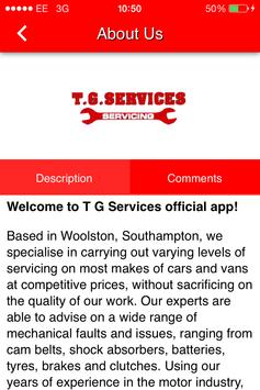 TG Services poster