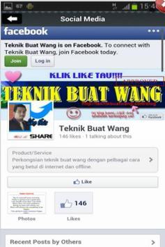 Teknik Buat Wang apk screenshot