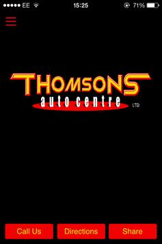 Thomsons Auto Centre poster