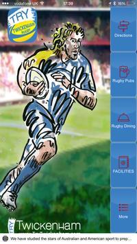 Twickenham Rugby Fan poster