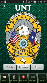 UNT Police Department poster