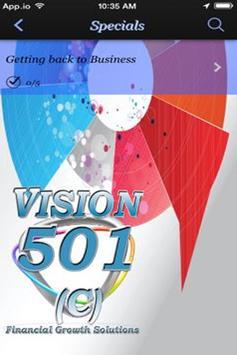 Vision 501c apk screenshot
