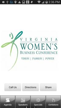 VA Women's Business Conference poster