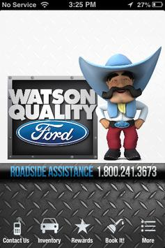 Watson Quality Ford poster