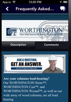 Worthington Millwork apk screenshot