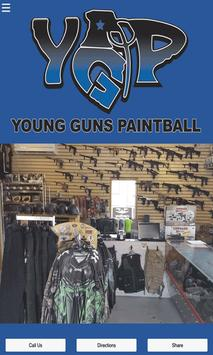 Young Guns Paintball poster