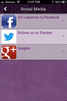 AB Logistics apk screenshot