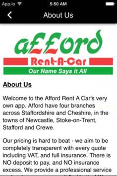 Afford Rent A Car apk screenshot