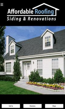Affordable Roofing & Siding poster
