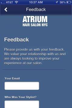 Atrium Hair Salon apk screenshot