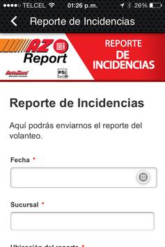 AZ Report apk screenshot