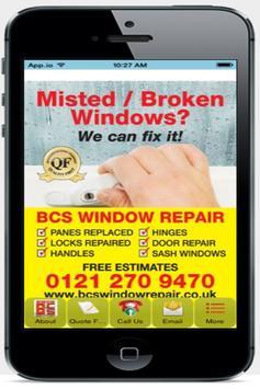 BCS Window Repair poster
