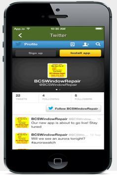 BCS Window Repair apk screenshot