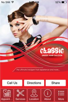 Classic Unisex Hair Saloon poster