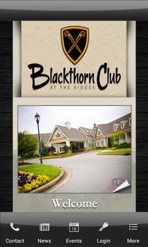 Blackthorn Club poster