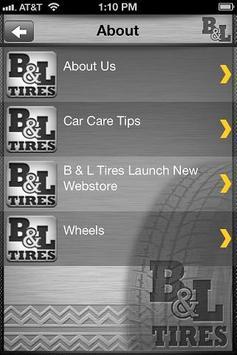 B & L TIRES apk screenshot