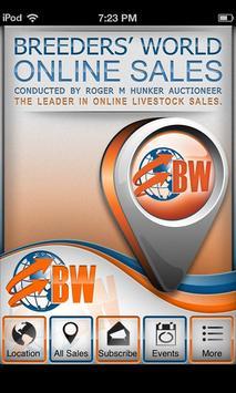Breeders' World Online Sales poster
