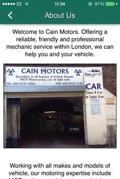 Cain Motors apk screenshot