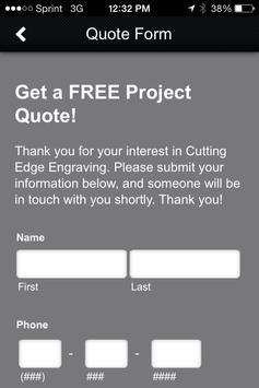 Cutting Edge Engraving apk screenshot
