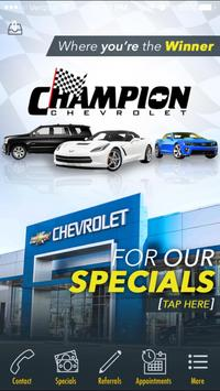 Champion Chevrolet Reno poster