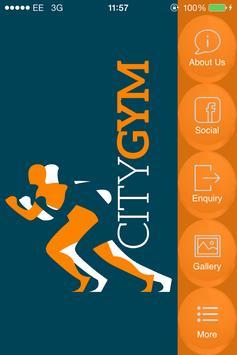 City Gym Stoke poster