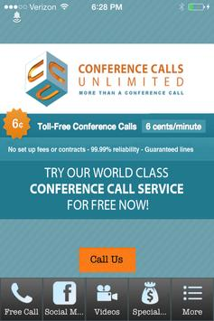 Conference Calls Unlimited poster