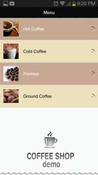 Coffee Shop Demo apk screenshot
