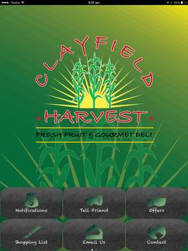 Clayfield Harvest poster