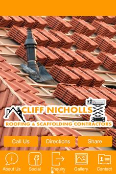 Cliff Nicholls Roofing poster