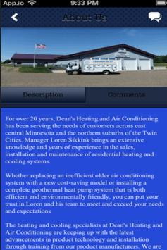 Dean's Heating & A/C, Inc apk screenshot