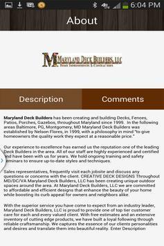 Maryland Deck Builders LLC apk screenshot