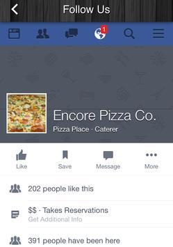 Encore Pizza apk screenshot
