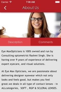 Eye max opticians apk screenshot