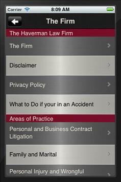 The Haverman Law Firm apk screenshot