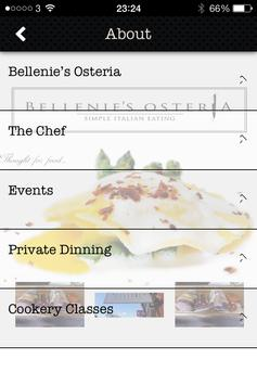 Bellenies Osteria apk screenshot