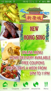 New Hong Sing Chinese Takeaway poster