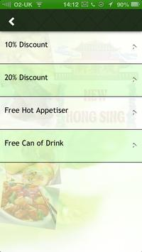 New Hong Sing Chinese Takeaway apk screenshot