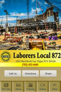 Laborers Local 872 poster