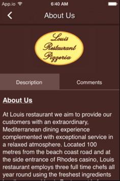 Louis Restaurant apk screenshot