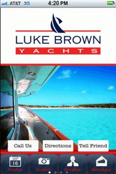 Luke Brown Yachts poster