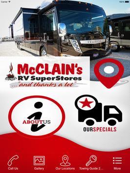 McClain's RV poster
