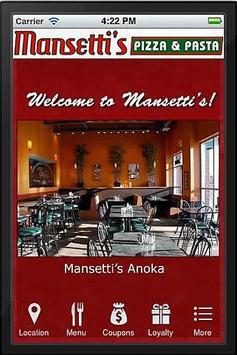 Mansetti's Pizza & Pasta poster