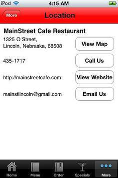Main Street Cafe Restaurant apk screenshot