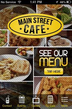 Main Street Cafe, Flora MS poster