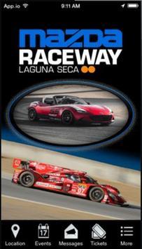 Mazda Raceway Laguna Seca poster