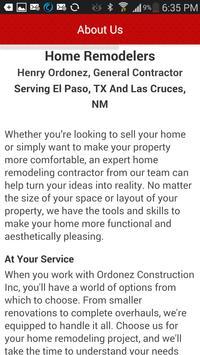 Ordonez Construction, Inc. apk screenshot